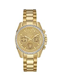 Wittnauer WN4074 Ladies Lucy Gold Plated Chronograph Gold-Pearl Dial Watch