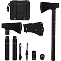 Camping Axe Multi-Tool Hatchet Survival Kit Tactical...
