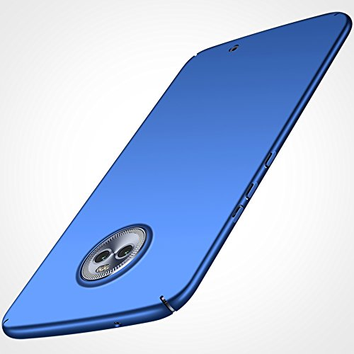Anccer Moto X4 Case [Colorful Series] [Ultra-Thin] [Anti-Drop] Premium Material Slim Full Protection Cover for Motorala X4 2017 (Smooth Blue)