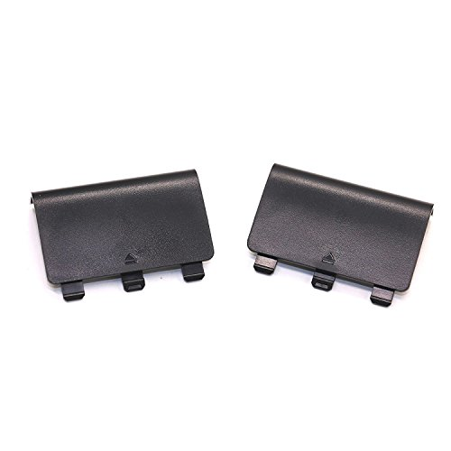 IDS 2 Pack Battery Cover Replacement for XBOX One Controller, Black