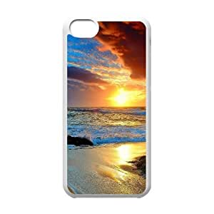 iPhone 5c Cell Phone Case White Beach TKT Phone Case Back Durable
