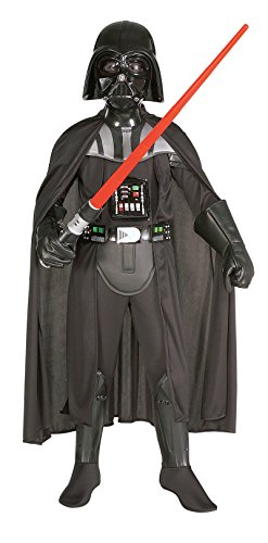 [882014 (4-6) Boys Darth Vader With Mask] (Darth Vader Deluxe Kids Costumes)