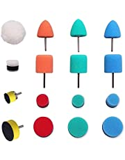 ENOCHROZEY Mini Buffing Polishing Pads, Car Detail Polisher Pads for Cordless Electric Drill Rotary Tool for Small Areas Polishing Waxing, Car Headlights, Fog and Brake Lights, Door Handles