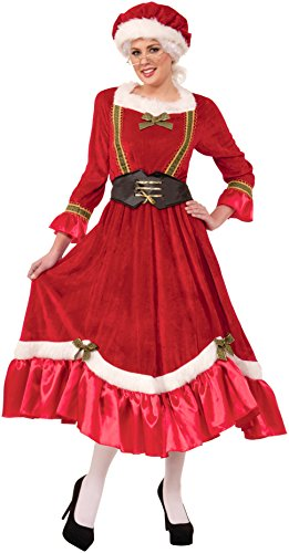 Mrs Claus Costume Dress (Forum Novelties Women's Mrs. Santa Claus Costume, Multi, Standard)