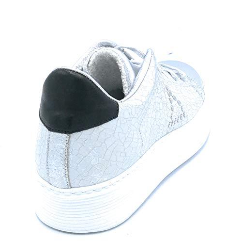 C582 Dreamer Pelle Scarpa Invecchiato Sneakers Laminato E Gomma 41 Lacci Taglia Argento Fondo SSdrnq