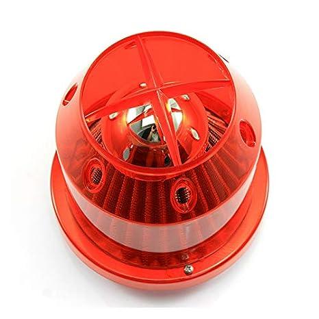Rabusion Kit de Filtre /à air dadmission dair dadmission dair Universel pour Voiture 76mm3 Rouge