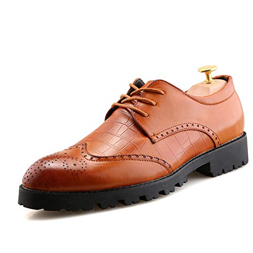 Xujw-shoes, 2018 Scarpe Stringate Basse Nuova linea casual da uomo con morbide scarpe basse in pelle brogue business oxford (Color : Nero, Dimensione : 41 EU) Marrone