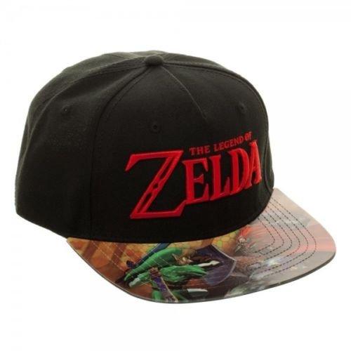 Bioworld Nintendo Legend Of Zelda Vinyl Printed Flat Bill Adjustable Hat