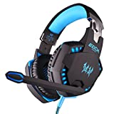 Leewos Matte Surface Stereo Gaming Headphone Games Headset With Mic Bass LED Light Noise Isolation Headphone for PC Gamer