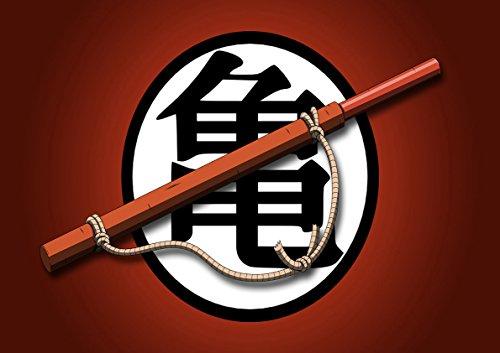 Post Drangon ball Z Goku Super Magic Stick Symbol Training Anime Manga Wall Art