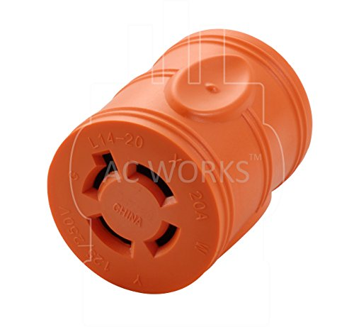 AC WORKS [AD515L1420] 15Amp Household Plug NEMA 5-15P to Generator 4 Prong 20Amp L14-20R (Two hots bridged) by AC WORKS (Image #3)