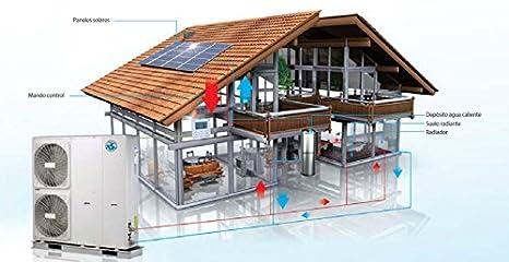 MUNDOCLIMA AEROTHERM V17 Bomba de calor aerotérmica: Frío, Calefacción y Agua ACS BIBLOC (230V) 6kW: Amazon.es: Hogar