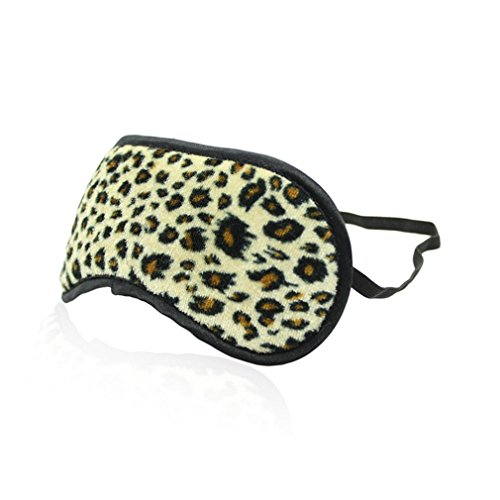 Masquerade Halloween Costume Accessorie Role Play Cover Eyes Soft Leopard Grain Blindfolded Eye -