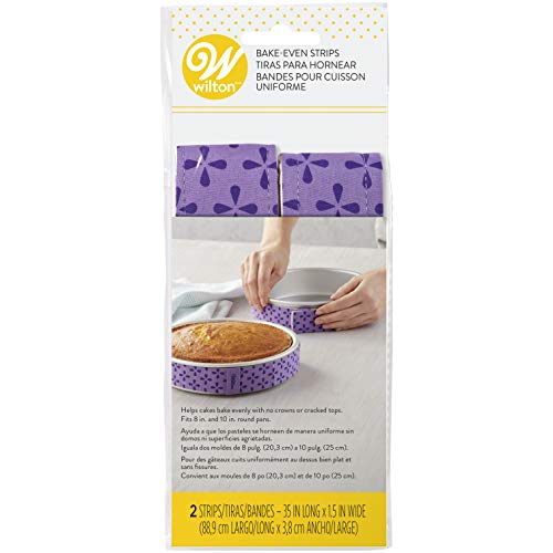 Wilton Bake-Even Cake Strips for Evenly Baked Cakes, 2-Piece -