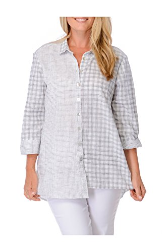 Habitat Clothes Angled Hem Big Shirt Crinkle Cotton Big Shirt