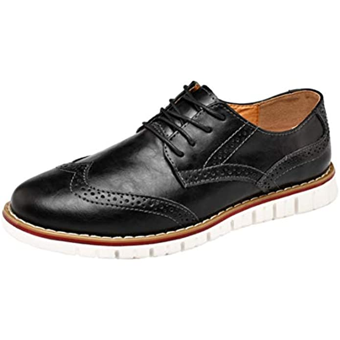 Mens Oxford Business Lace Up Loafers Leather Casual Classic Modern Dress Walking Shoes