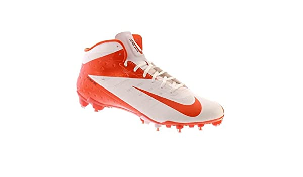 acd9afdc8903 Amazon.com | Nike Vapor Talon Elite 3/4 TD Men's Molded Cleats (12.5,  White/Orange Flash) | Football