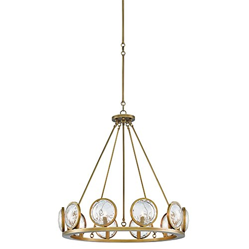 Currey and Company 9000-0119 MarjieScope - Ten Light Chandelier, Antique Brass Finish with Prism Optic Crystal