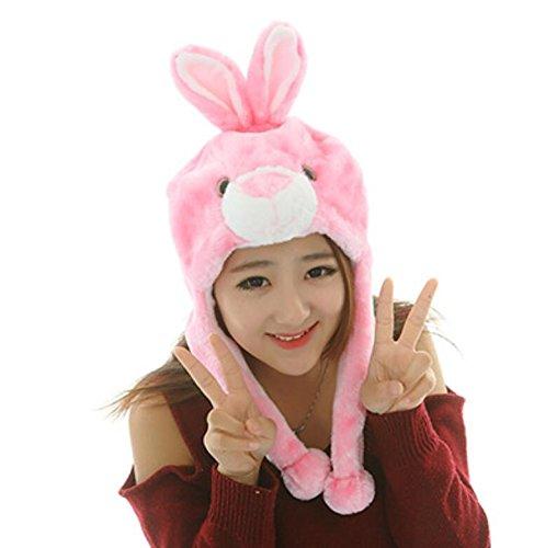 Dalino Creative Cute Cartoon Performance Headwear Plush Animal Headgear (Pink Little Rabbit) by Dalino