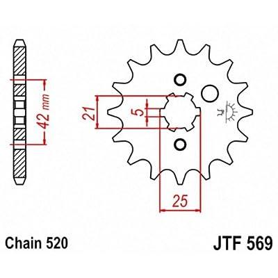 JT Sprockets JTF569.13 13T Steel Front Sprocket: Automotive