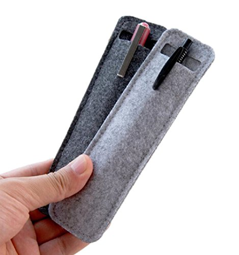 Funnylive Mini Felt Pen Bag Delicate Pen Case for Students and Business Used for Gifts Pen Packing,Set of - Canvas Felt