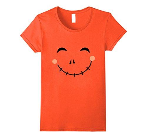 Womens Last Minute Happy Scarecrow Halloween Costume T-Shirt Medium Orange
