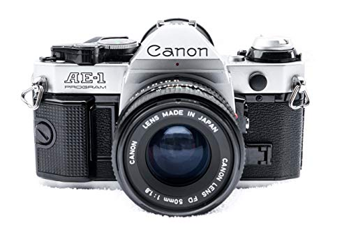 Vintage Canon AE-1 Program 35mm SLR Camera with 50mm 1:1.8 ()