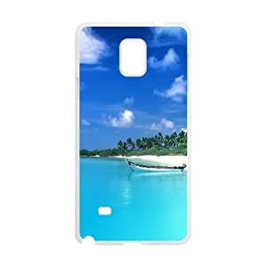 Samsung Galaxy Note 4 Case, Small Boat On The Blue Sea Case for Galaxy Note 4 White leemarson lmsf234378