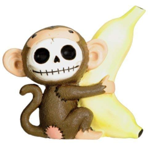 Furrybones Munky Signature Skeleton in Monkey Costume Holding a -