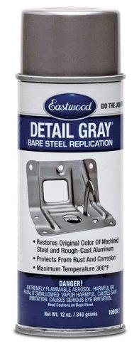 Eastwood Anti Rust Acrylic Detail Gray Lacquer Paint Aerosol 12 oz