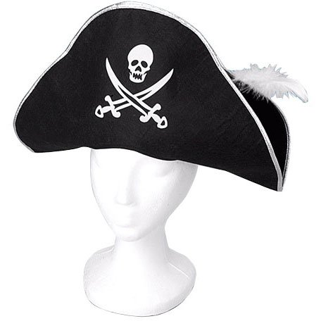 U.S. Toy H253 Pirate Hat with Feather
