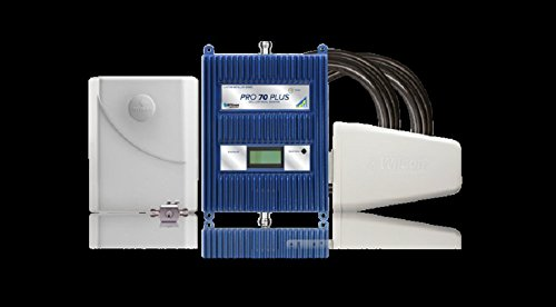 Wilson 460127 Pro 70 Plus Multiband Cellular Phone Amplifier/Repeater, Boosts 3G & 4G LTE for Any Building Up to 25000 sq ft., +12 dBm Downlink Power, 5-Band All Carrier Cell - Wilson Electronics Signal Booster