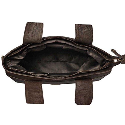 Bolso Piel STILORD Bandolera clásico para Mano marrón Compacto auténtica Bolso de Piel mujeres de ZqXaH