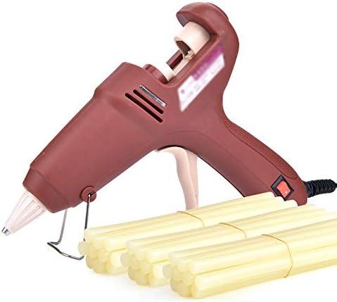 QL 30の接着剤が付いているホットメルトの接着剤銃50/60 / 150W急速加熱のための工業用グレードの電気ホットメルトの接着剤銃、DIYの美術工芸品の装飾、宝石類、木工品、日常のメンテナンスに適して(ブラウン) ホットメルトグルーガン (Color : A)