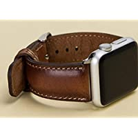 Apple Watch Band for Series 4 44mm, 42mm, 40mm, 38mm, Brown iWatch Band, Man or Women, Genuine Leather iWatch Strap, High Quality, Engraving Avaliable, HANDMADE, READY to SHIP, EXPRESS SHIPPING