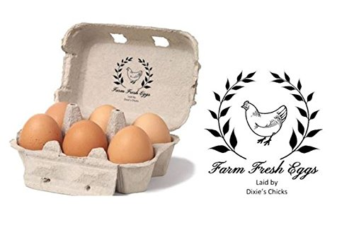 Personalised Egg Box - self inking stamp - 1 1/2