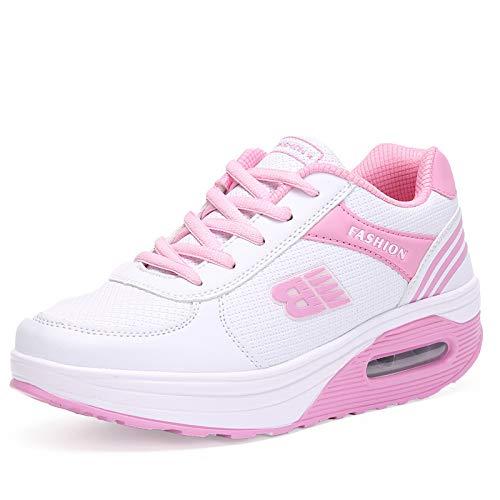 Sneakers Estudiante de de Zapatos de Moda Zapatos nuevos de Mujer de Hasag Plataforma Blanca Mujer qRwv67PH