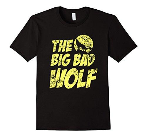 Mens The Big Bad Wolf Shirt, Funny Cute Halloween Costume Gift Medium Black (Cute Halloween Costumes For Men)