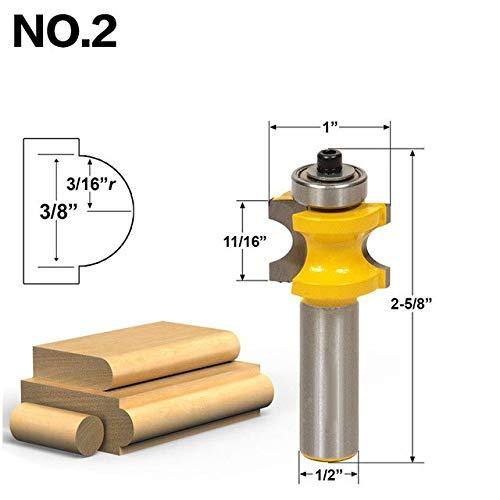 """5x Bullnose Bead Column Face Molding Router Bit 1//2/"""" Shank Woodworking Cutter"""