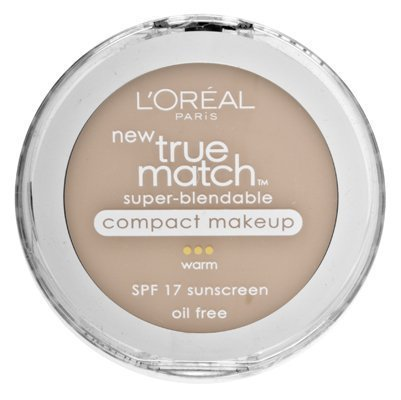 Loreal True Match Compact - L'Oreal True Match Super-Blendable Compact Makeup, Sand Beige [W5], 0.30 oz (Pack of 2)