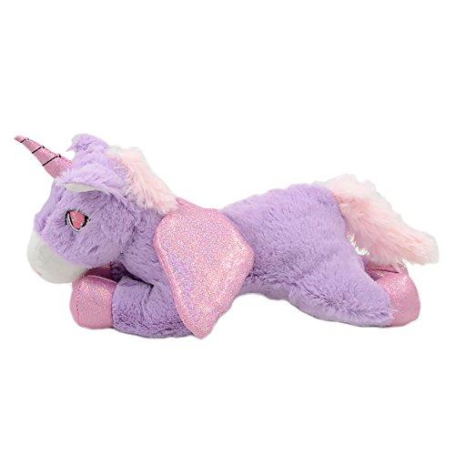 Millffy Unicorn Plush Stuffed Animals Horse Plush Toys Soft Baby Toy Angel Pony Doll Princess Girl Doll (Purple, 30cm 11.8inch)