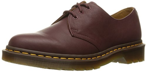 Dr. Martens 1461 Virginia Black, Derbys femme Rouge