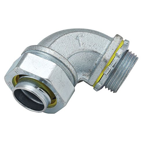 Hubbell-Raco 3426-8 Connector, Liquid Tight, 90 Degree, Flex and Type B Flex, Uninsulated, 1-1/2-Inch