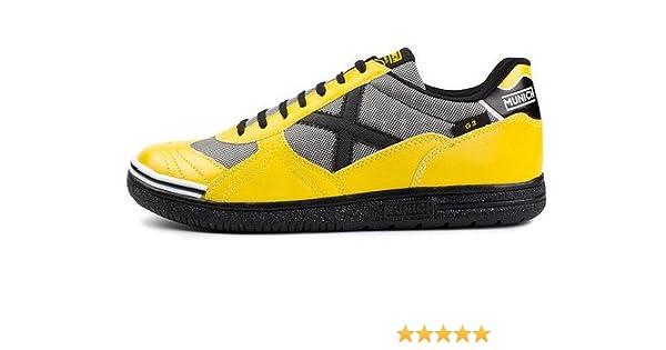 1b18a1f5a47 Amazon.com | MUNICH - G3 167 - Indoor Soccer/Futsal Shoe - Yellow/Black -  12 | Athletic