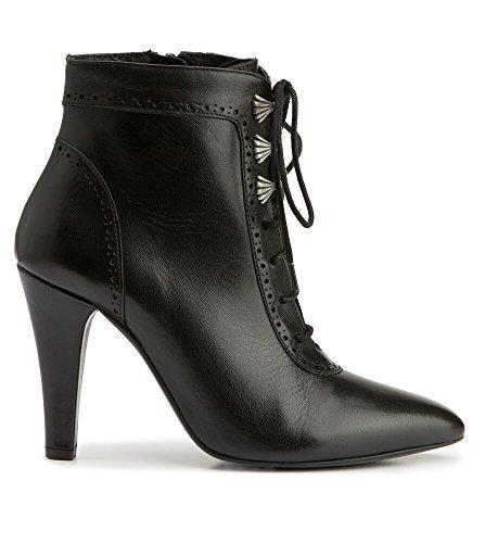 Stockerpoint 7017schwarz - Zapatos de vestir de Piel para mujer negro negro