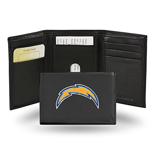 Rico Industries NFL Los Angeles Chargers Embroidered Leather Trifold - Diego Chargers Leather San Football