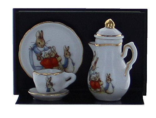 Reutter Porcelain 5 Piece Peter Rabbit Miniature Tea Set