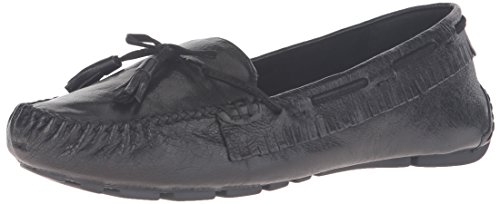 Leather West Nine Begone Women's Black Moccasin q1wwfpdxn