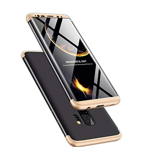 ATRAING Galaxy S9 Plus Case, 3 in 1 Ultra-Thin PC Hard Case Cover for Samsung Galaxy S9 Plus(2018) (Gold+Black+Gold)