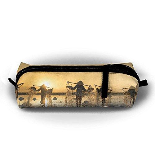 Rfhbjthir Salt Hon Khoi Vietnam Field Unisex Pen Bag Zipper Cosmetic Bags Cylindrical - Binder Hon